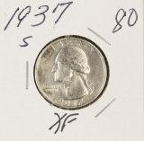 1937-S WASHINGTON QUARTER - XF