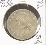 1836 - CAPPED BUST HALF DOLLAR - AU