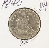 1840 - SEATED LIBERTY HALF DOLLAR - XF