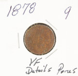 1878 - INDIAN HEAD CENT - VF