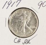 1917 - WALKING LIBERTY HALF DOLLAR - AU