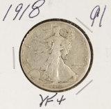 1918 - WALKING LIBERTY HALF DOLLAR - VF+