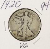 1920 - WALKING LIBERTY HALF DOLLAR - VG
