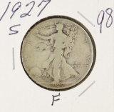 1927-S WALKING LIBERTY HALF DOLLAR - F