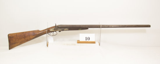 Powell, Side By Side Shotgun with Hammers, 12 ga