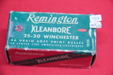 1 Box of 28, Remington Klean Bore 25-20 Win