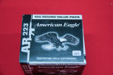 1 Box of 100, American Eagle AR 223 Rem 55 gr
