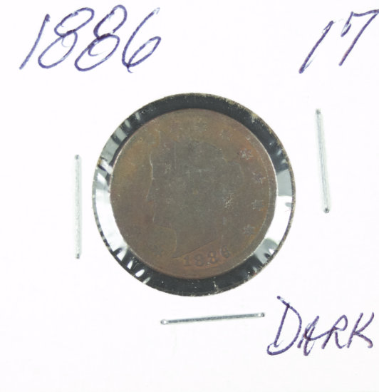 "1886 - LIBERTY HEAD ""V"" NICKEL"