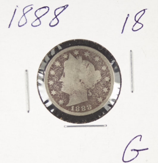 "1888 - LIBERTY HEAD ""V"" NICKEL - G"