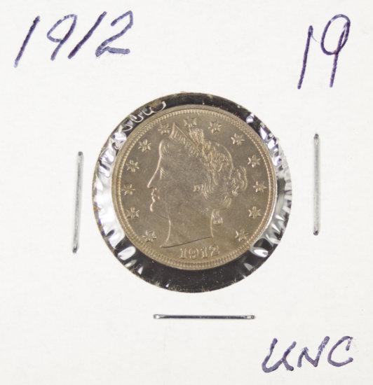 """1912 - LIBERTY HEAD """"V"""" NICKEL - UNC"""