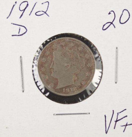 """1912-D LIBERTY HEAD """"V"""" NICKEL - VF+"""