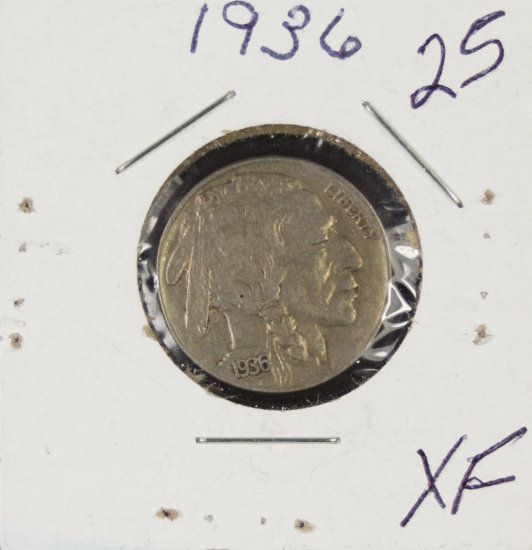 2 - COIN LOT 1936-XF &  1937- BU