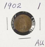 1902 - INDIAN HEAD CENT - AU