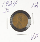1924-D LINCOLN CENT - VF