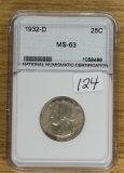 1932-D WASHINGTON QUARTER - UNC