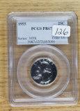 1955 - PCGS PR 67 - WASHINGTON QUARTER
