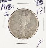1918-S WALKING LIBERTY HALF DOLLAR - F+