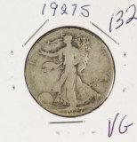 1927-S WALKING LIBERTY HALF DOLLAR - VG