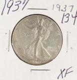 1937 - WALKING LIBERTY HALF DOLLAR - XF