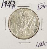 1942 - WALKING LIBERTY HALF DOLLAR - UNC