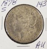 1878-S MORGAN DOLLAR - AU