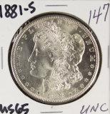 1881-S MORGAN DOLLAR- UNC