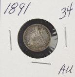 1891 - SEATED LIBERTY DIME
