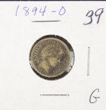 1894-O BARBER DIME - G