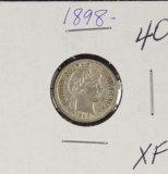 1898 - BARBER DIME - XF