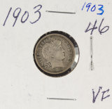 1903 - BARBER DIME - VF