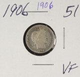 1906 - BARBER DIME - VF