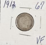 1912 - BARBER DIME - VF