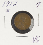 1912-S LINCOLN CENT -VG