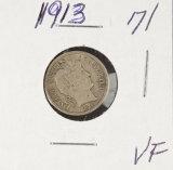1913 - BARBER DIME - VF