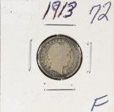1913 - BARBER DIME - F