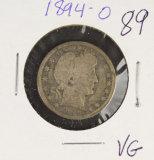 1894-O BARBER QUARTER - VG