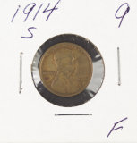 1914-S LINCOLN CENT - F