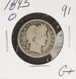 1895-O BARBER QUARTER - G+