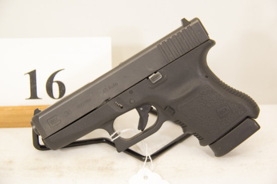 Glock, Model 36, Semi Auto Pistol, 45 ACP cal,