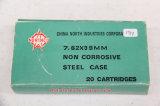 1 Box of 20, Norinco 7.62 x 39, Steel Case