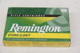 1 Box of 20, Remington, 25-06 Rem 100 gr