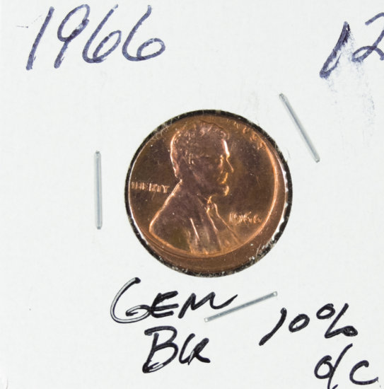 1966 - LINCOLN CENT -BU