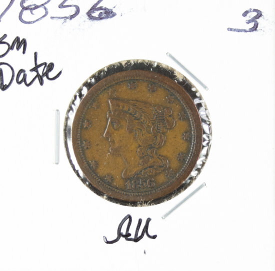 1856 - BRAIDED HAIR HALF CENT - AU