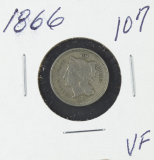 1866 - NICKEL THREE CENT PIECE