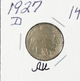 1927-D BUFFALO NICKEL - AU