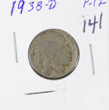 1938-D  BUFFALO NICKEL - F