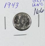 1943 - MERCURY DIME - BU