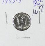 1943-S - MERCURY DIME -BU
