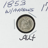 1853 - SEATED LIBERTY HALF DIME