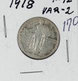 1918 - STANDING LIBERTY QUARTER - F